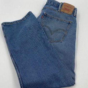 Men's Levi 505 Light Wash Straight Leg Blue Jeans